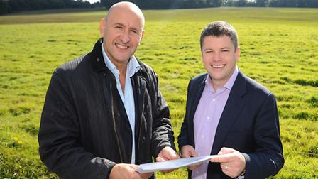 Jonathan Smales, left, executive chairman of Beyond Green, and Neil Murphy, director of planning, at