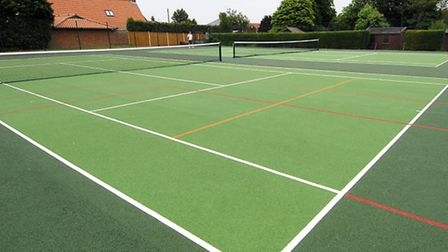 Wells Tennis Courts. One of the town's assets likely to be featured on a list being drawn up by Well