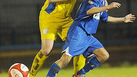 Phil Gulliver, yellow, will skipper the Linnets this afternoon. Picture: Ian Burt