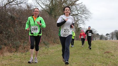 Runners in the annual Break charity cross country run at Stody, near Holt.