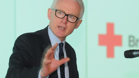 The British Red Cross event, where speakers talked about the provision of care for the elderly and v