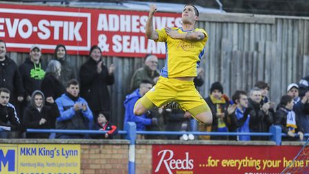 Ross Watson hopes he can be up and at 'em when Newcastle Town arrive at The Walks on Saturday. Pictu