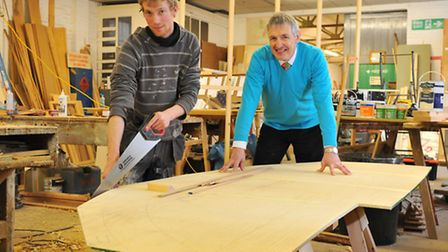 Carpentry foreman Matthew Daniels and Mark Lusher at the W.S. Lusher workshops in Sprowston where th