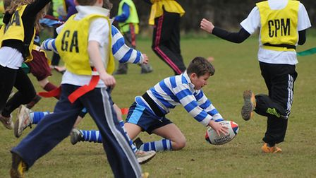 North Norfolk primary schools tag rugby tournament at North Walsham Rugby Club. PHOTO: ANTONY KELLY
