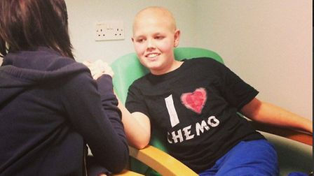 Deryn having an arm wrestle two days before his operation