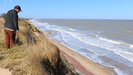 Update on the beach and cliff erosion at Hemsby.April 2013Picture: James Bass