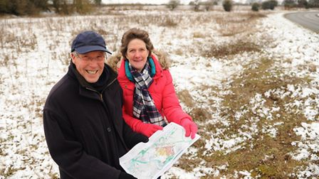 Professor Malcolm Wagstaff, chairman of the planning team on the Cringleford Parish Council, and Ann