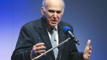 Vince Cable, Secretary of State for Business, Innovation and Skills talks during the Federation of S