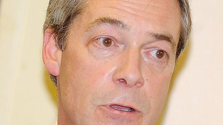 UKIP leader Nigel Farage, who is coming to Holt.