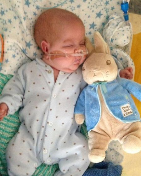 Ethan, born at 26 weeks, is slowly gaining strength and getting bigger.