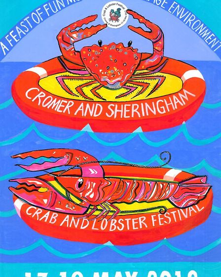 The third placed poster for the Cromer and Sheringham Crab and Lobster Fesitval 2013.