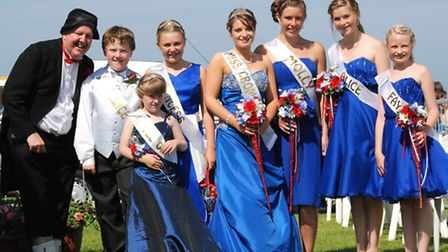 Cromer Carnival 2012 royal family with the entertainer Jimmy Cricket. Photo: ANDREAS YIASIMI.