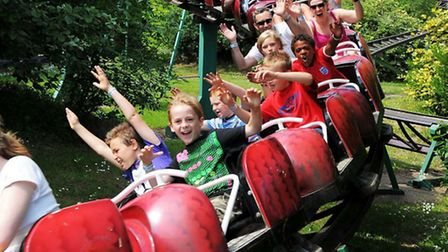 The Snake in the Grass ride at Pleasurewood Hills. Also known as the Ladybird or the Rattlesnake for
