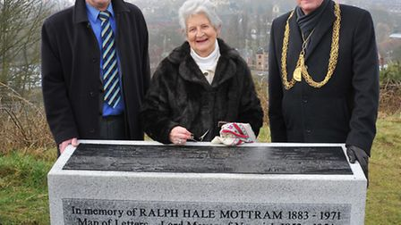 The Lord Mayor of Norwich, Ralph Gayton unveiled the new memorial to Ralph Mottram on St James' Hill