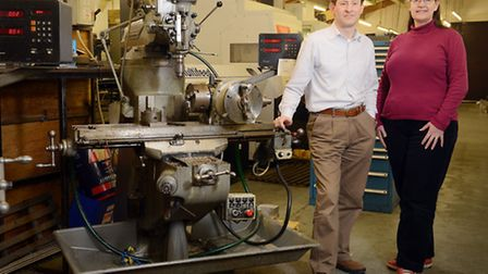 Ashill Precision Engineering has new owners of husband and wife team Justin and Karen Helmann. Pictu