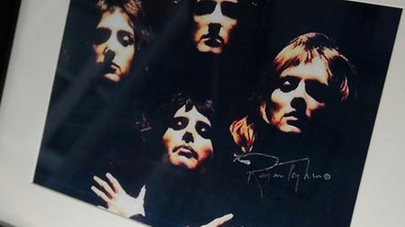 A photo signed by Roger Taylor from Queen.PHOTO: ANTONY KELLY