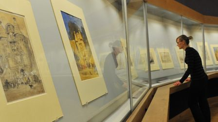 Visitors to Norwich Castle enjoy the new John Sell Cotman: A Picturesque Tour of Norfolk and Normand