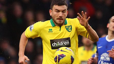 Norwich City's Robert Snodgrass got himself a second yellow card for Scotland midway through the second half with an...