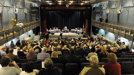 The first day of the public inquiry at the Corn Exchange in King's Lynn. Picture: Matthew Usher.