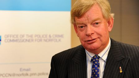 Stephen Bett is sworn in as Norfolk's Police and crime commissioner at Norfolk Police headquarters i