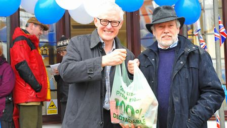 Community effort - the official opening of White House Stores, Neatishead. Norman Lamb M.P , picture