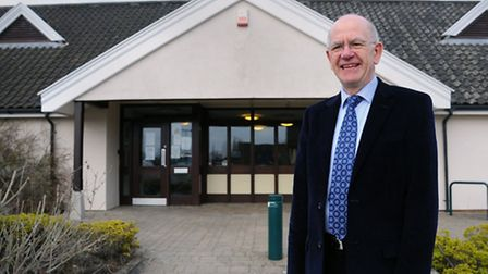 Dr Philip Leftley outside the surgery in Pulham Market from where he is retiring.