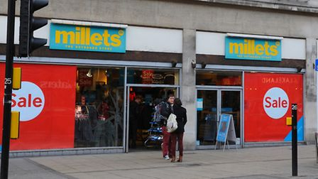The Millets shop on St Stephens Street which is expected to become a Sainsbury's store. Photo: Steve