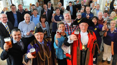 festival boost: The launch of last years City of Ale Festival in Norwich. Wolf Brewery, from Attlebo