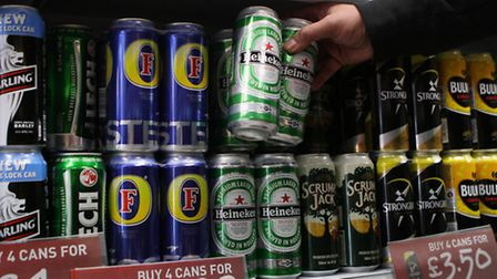 Retransmitting picture adding keyword. File photo dated 02/09/2010 of cans of lager and cider on the