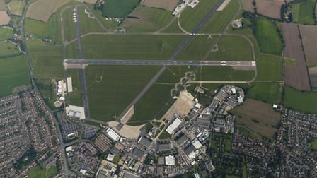 Aerial view of Norwich International Airport. City councillors will make a decision today over propo