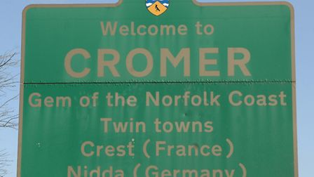 GV of Cromer town sign
