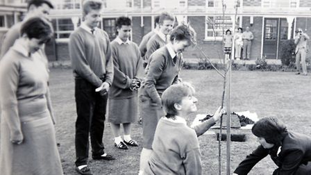 A photograph from the exhibition at Old Buckenham High School. Photograph Simon Parker