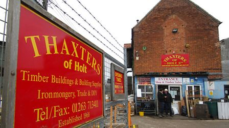 Thaxters of Holt, where the new supermarket will be built. PHOTO: ANTONY KELLY