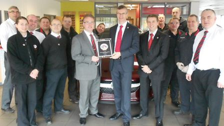 Award-winners: John Daly, business systems manager, and Craig Gentleman, Vauxhall business developme