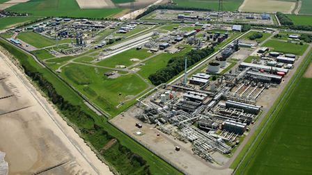 Picture shows; Bacton: A comprehensive view of the Bacton Gas terminal which sends gas to the cont