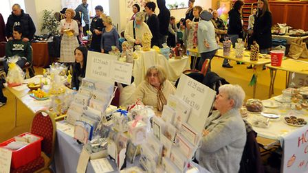The auction gets underway at the Easter Fair held at the Church on the Way in Thetford.
