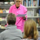 Clare Jarrett speaks at Thetford Library as part of the Words and Women festival.