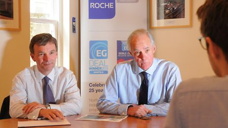 The Big Interview, James Allen and Mark Roche at Roche Chartered Surveyors in Norwich.PHOTO BY SIMON