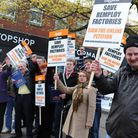 The demonstration against the closure of the Remploy factory. Picture: Denise Bradley