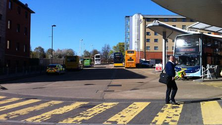 Police have arrested a woman following an assault on a Norwich bus this morning
