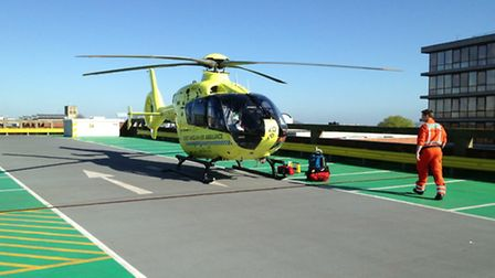 Police have arrested a woman following an assault on a Norwich bus this morning. The air ambulance a