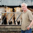 Farmer Terry Sanderson with some of his cows on his farm in Heacham. Picture: Matthew Usher.