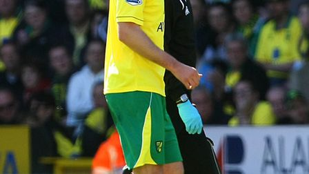 Michael Turner was forced to depart the scene early with a groin injury in Norwich's 2-1 Premier Lea