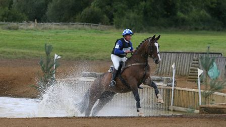 Johnny Hustler riding Ich Heisse Peanut - the pair are off to the Badminton Horse Trials.