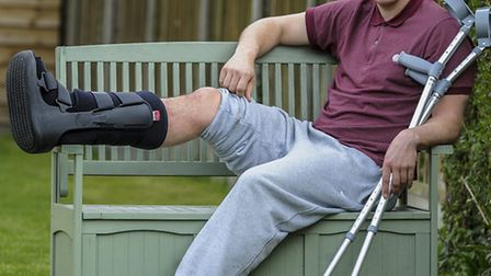 Jack Defty's broken leg is keeping him out of the decisive battles of Lowestoft's season. Picture: M