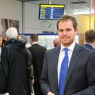 Exhibition of the Norwich Aeropark expansion plans on display at Norwich International Airport. Chie
