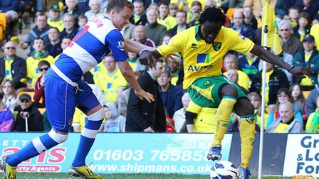 Kei Kamara, pictured shielding the ball from Reading's Danny Guthrie last Saturday, has been a big h