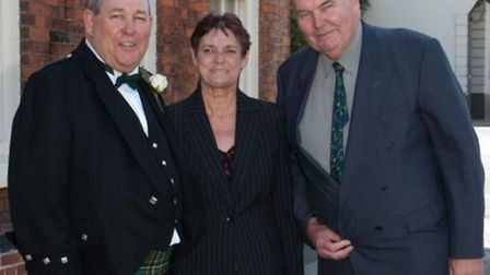 Martin Corcoran, left, with Ann and John Corcoran, who died within hours of each other. Photo: Suppl