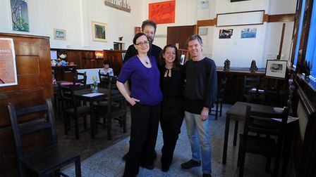 Rebecca Lyne, (L to R) Christopher Parr, Donna-Marie and Ian Harvey of the new arts centre in Eye ca