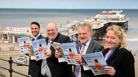 The team behind the new North Norfolk Holiday Guide. Left to right, Nick Harding, Andy Orchard, Bruc